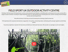Tablet Preview of fieldsportuk.co.uk